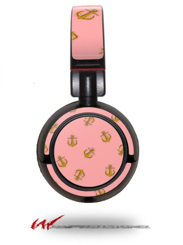 Anchors Away Pink - Decal Style Vinyl Skin Fits Sony Mdr Zx100 Headphones (Headphones Not Included)