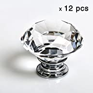 12pcs Diamond Shape Crystal Glass 30m…
