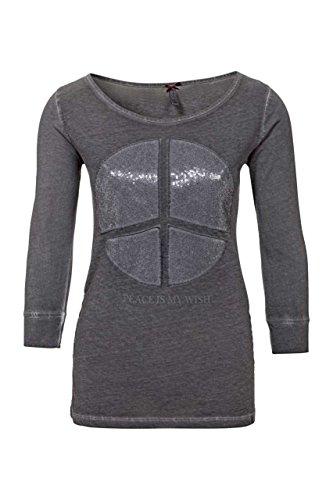 key-largo-damen-shirt-3-4-arm-shirt-peace-farbe-anthrazit-grosse-m