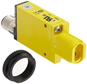 Banner SM2A312FQD Mini Beam AC Photoelectric Sensor, Infrared LED, Glass Fiber Mode,  Range