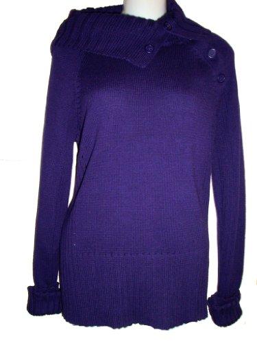 DKNYDKNY Women's Sweater, Size Large, Dark Purple
