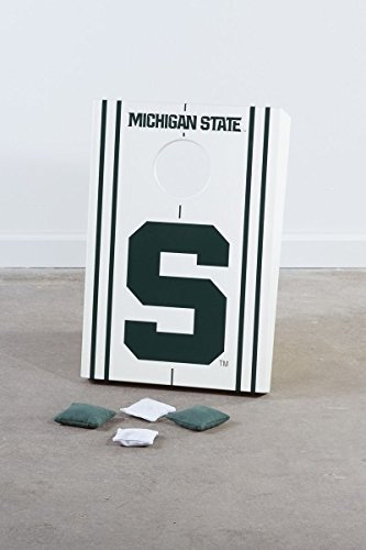 Corn Hole Game, Bean Bag Toss for Kids - Michigan State - 1 Board (Toddler Corn Hole compare prices)