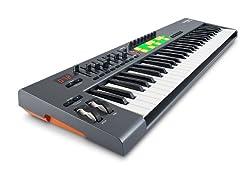 Novation Launchkey 61, 61-key USB/iOS MIDI Keyboard Controller with Synth-weighted Keys