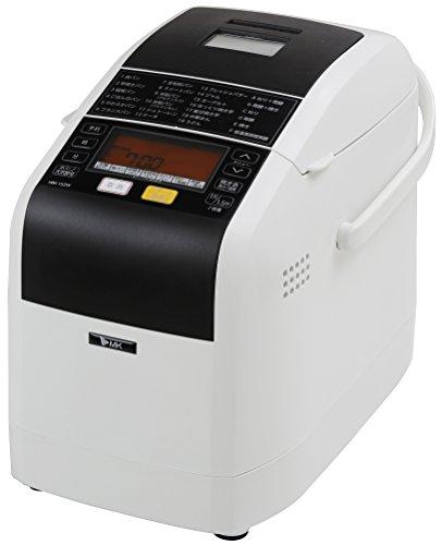 エムケー精工(MK精工) 自動ホームベーカリー 「ふっくらパン屋さん」 1斤/1.5斤選択 (米粉パン・天然酵母パン対応) 「残りごはんでパンがつくれる」 ホワイト HBK-152W