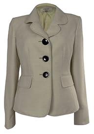 Kasper Women's Three Buttons Tweed Ro…