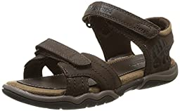 Timberland Oak Bluffs 2 Strap Dress Sandal (Big Kid),Dark Brown,6 M US Big Kid