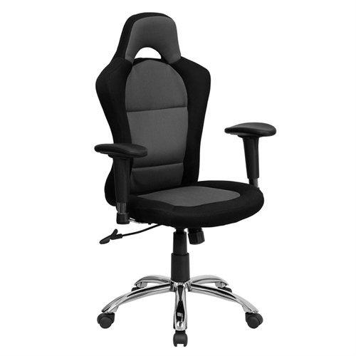 Flash Furniture Bt-9015-Gybk-Gg Race Car Inspired Bucket Seat Office Chair In Gray/Black Mesh