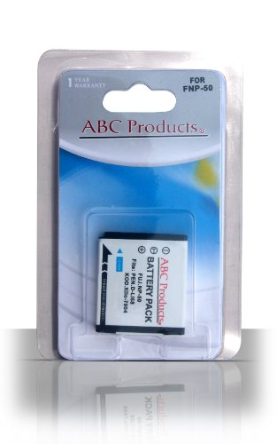 ABC Products Replacement rechargeable Li-ion battery NP-50 NP50 for Fuji Fujifilm Finepix F50fd, F60fd, F100fd, F70EXR, F72EXR, F75EXR, F80EXR, F85EXR, F200EXR, F300 EXR, F305EXR, F500EXR, F505EXR, F550EXR, F600EXR, F605EXR, F660EXR, F665EXR, F750EXR, F770EXR, F775EXR, Real 3D W3, X10, XP100, XP110, XP150, XP160 Digital Camera etc