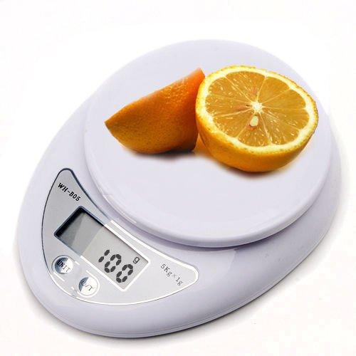 G-Lighting® Balances Electroniques Pèse Bagage Balances (5kg Blanche)