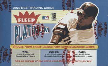 2003 Fleer Platinum Baseball Cards Hobby Box