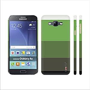 Heartly Strip Style Retro Color Armor Hybrid Hard Bumper Back Case Cover For Samsung Galaxy A8 A800F - Great Green