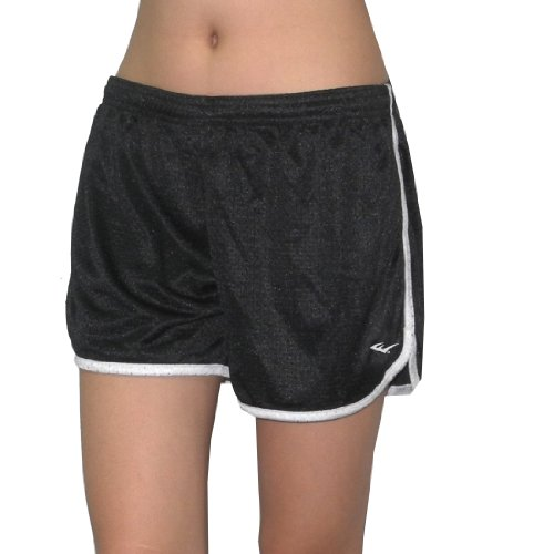 EVERLAST Womens Dri-Fit Mesh Running / High Performance Athletic Shorts - Black