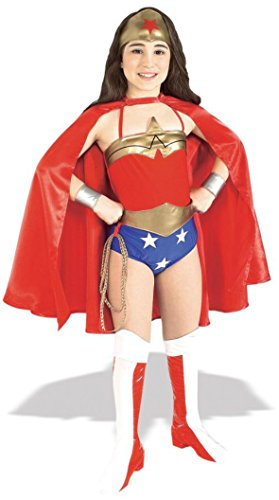 Girls Wonder Woman Deluxe Kids Child Fancy Dress Party Halloween Costume