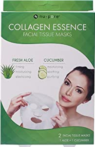Nu-Pore Collagen Essence Mask 2ct (Aloe & Cucumber), Bulk Case of 24