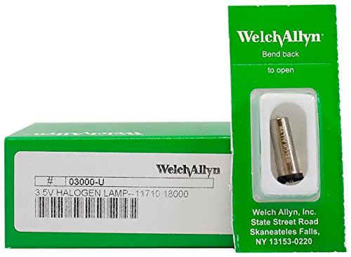 Welch Allyn Model 03000-U Original Brand 3.5V Halogen Replacement Lamp (Welch Allyn Replacement Parts compare prices)