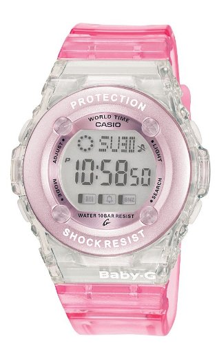 Baby-G Pink and Grey Digital Ladies Watch - BG-1302-4ER