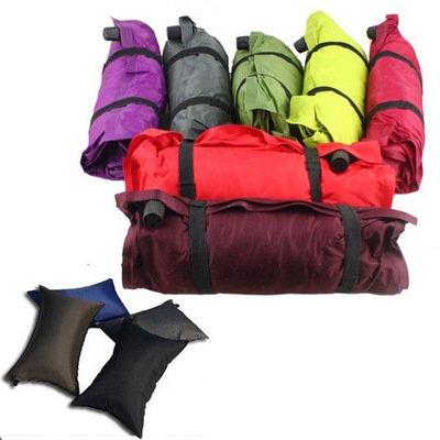 Autogonfiante cuscino da viaggio morbido cuscino gonfiabile da campeggio Air cuscino portatile e comoda per escursionismo Backpacking, colori assortiti, 1pezzo