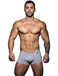 Andrew Christian Basix Collection Heather Grey Color Tagless Comfort Boxer Brief Underwear For Men