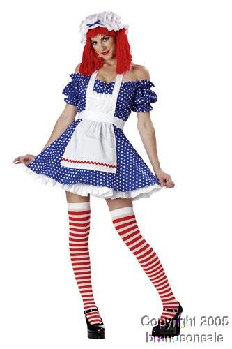 Sexy Adult Rag Doll Costume (Size:Medium 8-10)