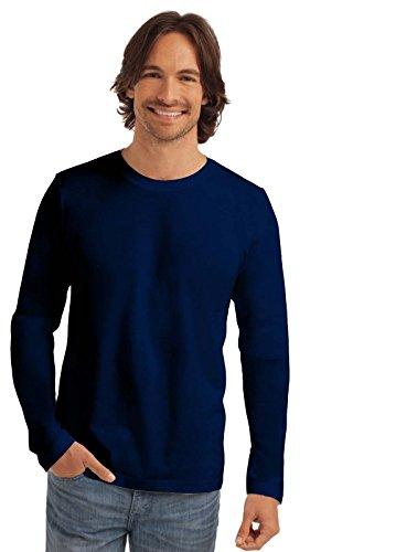 Maglia Maniche Lunghe Uomo Cotone Stedman Classic T Shirt Maglietta Manica Lunga, Colore: Blu Notte, Taglia: L