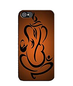 EU4IA Lord Ganesha Pattern MATTE FINISH 3D Back Cover Case For iPhone 4 - D327