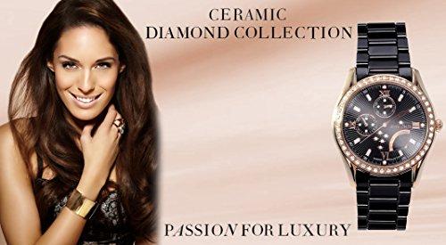 stella maris damen armbanduhr analog quarz premium keramik diamanten stm15m6 uhren. Black Bedroom Furniture Sets. Home Design Ideas