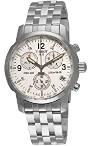 Men's T-Sport PRC200 Chronograph Stainless Steel Silver Dial Watch #T17.1.586.32