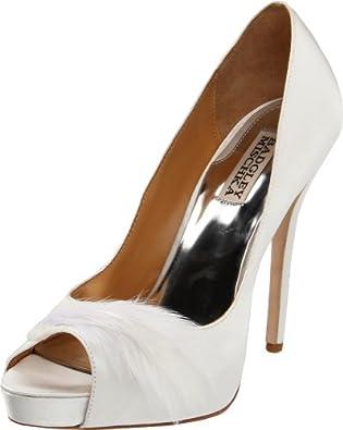 High-Heels-Pumps: Badgley Mischka Ginnie, Damen Pumps , Wei� - wei� - Gr��e: 41 (7.5 UK)