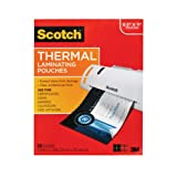 Scotch Thermal Laminating Pouches, 8.9 x 11.4-Inches, 3 mil thick, 50-Pack (TP3854-50)