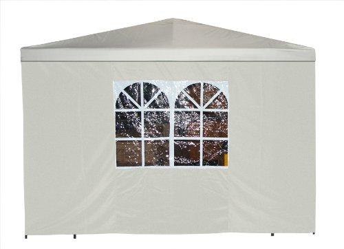 Seitenteil für Pavillon 3×3 Meter mit Fenster, uni – weiss günstig online kaufen