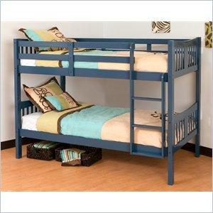 Stork craft caribou bunk bed navy furniture for Stork craft caribou bunk bed