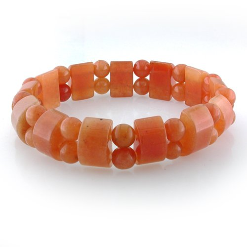 Cute Stretchy Peach Aventurine Bracelet