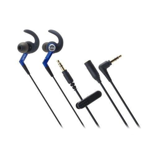 Audio Technica Athckp500Bl Sporfit In-Ear Headphones, Blue