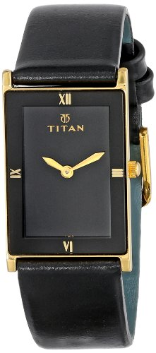 """Titan  Watches promotion: Titan Unisex 291YL03 """"Classique"""" Watch with Black Leather Band"""