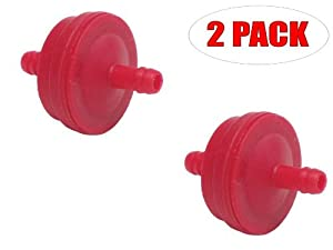 Oregon 07-101 (2 Pack) Fuel Filter In-Line 1/4-inch Nipple 125 Micron Replaces Briggs & Stratton 298090 John Deere PT4265 Toro 42-5240 Snapper 1-4359 from Oregon