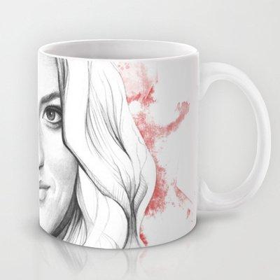 Society6 - Debra Morgan - Dexter Blood Spatters And Butterfli… Coffee Mug By Olechka