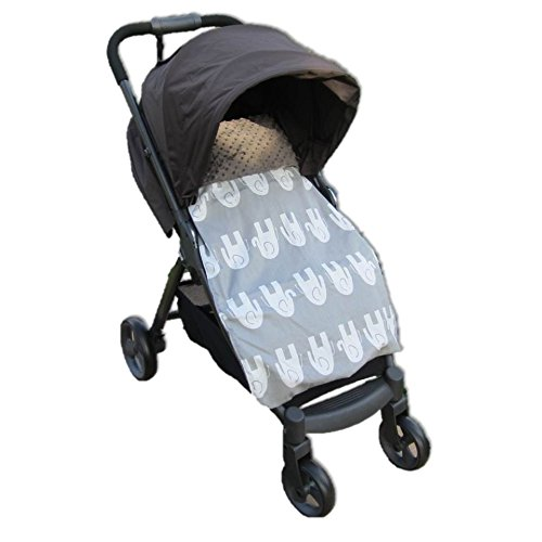 Stroller Blankie Elephants (Grey)