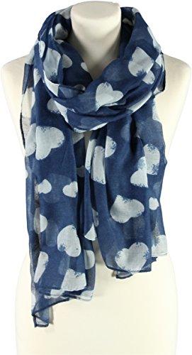 Hearts Sciarpa da Donna Passigatti foulard da donna sciarpa da donna talla £nica - blu