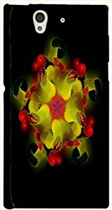 Brilliant multicolor printed protective REBEL mobile back cover for Sony Xperia Z L36h D.No.N-T-1893-S36