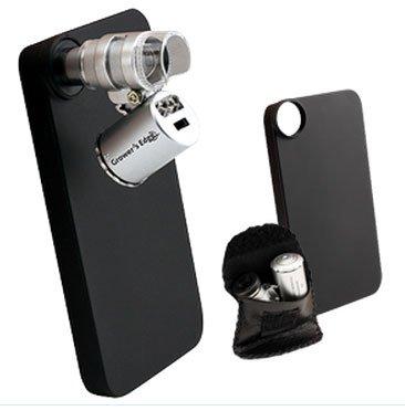 Growers Edge Iphone 4/4S Case W/ Led Pocket Microscope 60X