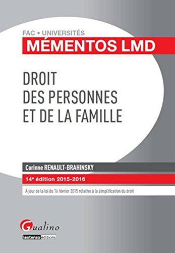 Droit des personnes et de la famille 2015-2016