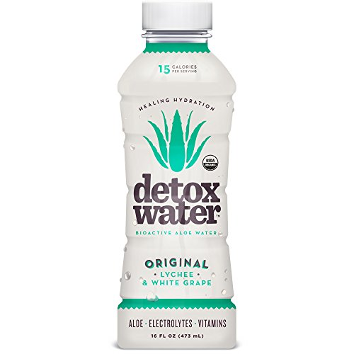detoxwaterTM Bioactive Aloe Water Original Lychee & White Grape 16 Fluid Ounces, Pack of 12 (Detox Water compare prices)