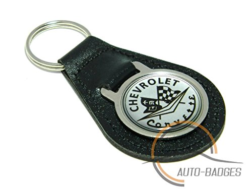 chevrolet-corvette-keyring-quality-black-leather-key-ring