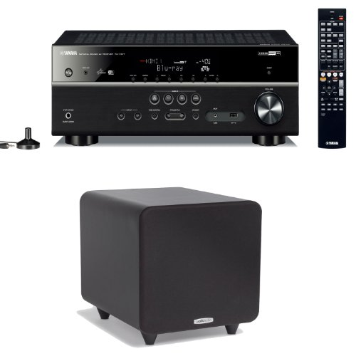 Yamaha Rx-V577 7.2 Channel Networking Home Theater Receiver Plus A Polk Audio Psw111 300-Watt Powered Subwoofer