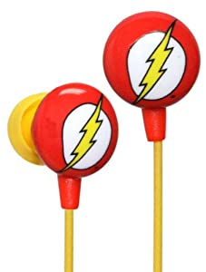 iHip DCF10163FL Classic Flash Logo Hi-Fi Noise Reducing Ear Buds (Earphones) Red/Yellow/White