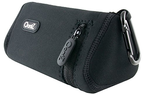 Official-OontZ-Angle-3-Bluetooth-Portable-Speaker-Carry-Case-Neoprene-Travel-Bag-with-Aluminum-Carabiner-OontZ-Logo-on-side-reinforced-zipper-also-fits-OontZ-Angle-PLUS-by-Cambridge-SoundWorks