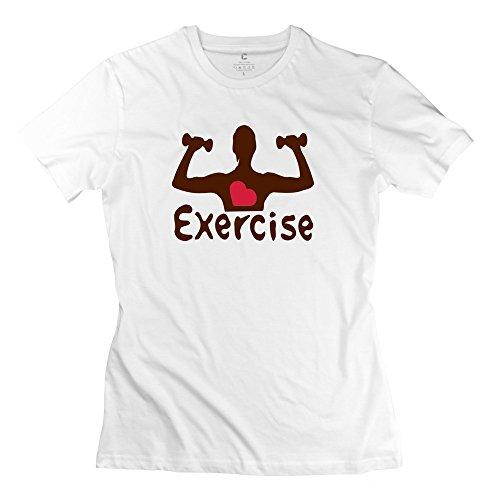 Zhitian Women'S Heart Exercise T-Shirt - Xxl White