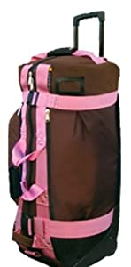 Club Glove Rolling Duffle 2 Mocha W Pink Webbing Xl by Club Glove