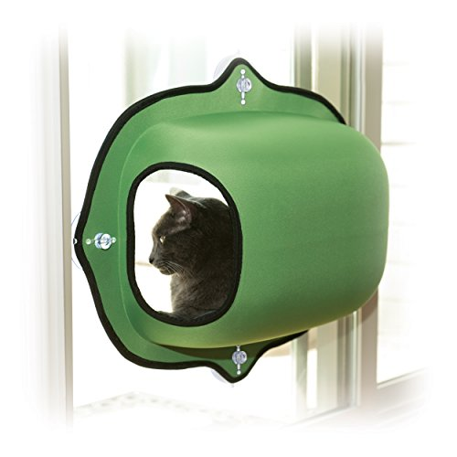 K&H Manufacturing EZ Mount Window Pod Kitty Sill Green 27 Inch