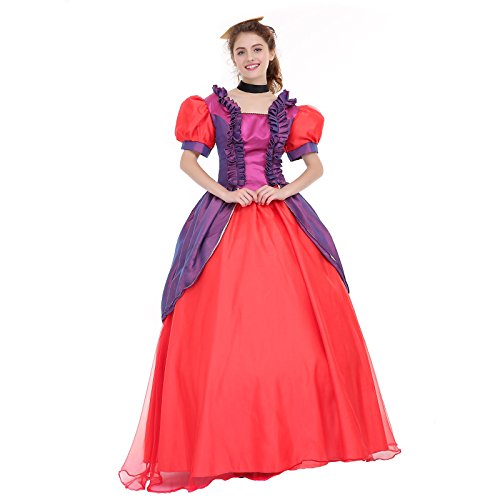 [Angelaicos Womens Vibrant Color Layered Elegant Costume Dress Petticoat (M, Purple Red)] (Princess Anastasia Halloween Costume)